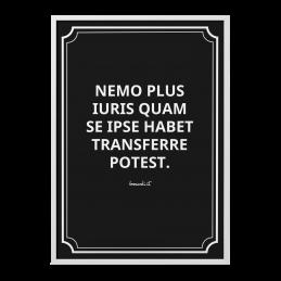 """Quadro """"Nemo plus iuris"""""""