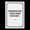 """Quadro """"Ignorantia legis"""""""