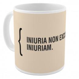 """Tazza """"Iniuria non excusat"""""""