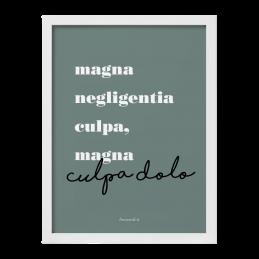 "Quadro ""Magna negligentia"""